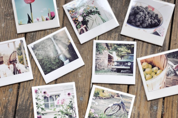 DIY: Polaroid-esque Coasters! Darkroom and Dearly | Apartment Therapy