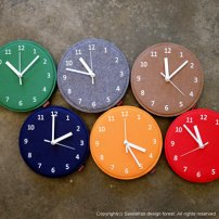 Felt Wall Clock Mini available in a variety of colours - $28.21 Etsy