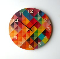 Objectify Grid2 Wall Clock With Numerals - Medium Size - $36.11 Etsy
