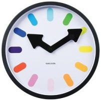 Steel Wall Clock - White Rainbow Pictogram - $45 from jasonl.com.au